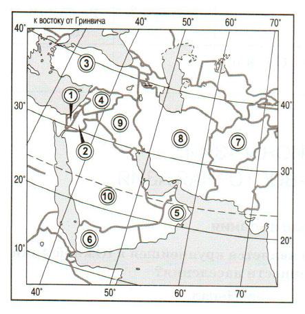 § 56. Регионы Азии: Юго-Западная, Восточная и Центральная Азия - Домогацких. 7 класс 2 часть. Рабочая тетрадь